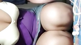 indian hot milf flashing her tits and pussy on live