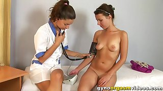 Wicked Russian Girl Needs Orgasm In Gynecologist Cabinet